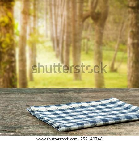 rustic wood in the garden. - stock photo