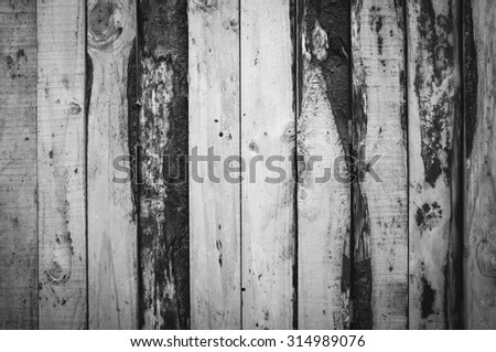 rustic wood painted blue colour background - stock photo
