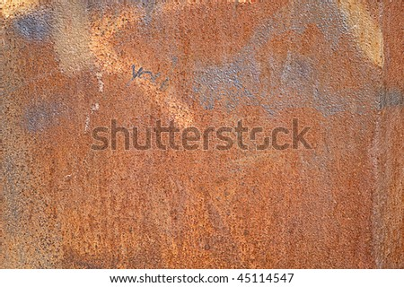 Rusty background with silver spray - stock photo