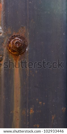 rusty bolt and nut background - stock photo