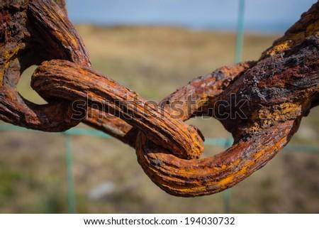 Rusty chain - stock photo