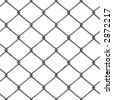 Rusty Chainlink ( With Clipping Path, you can tile this image seamlessly) - stock photo