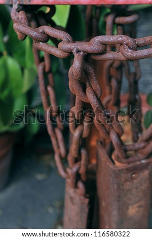 Rusty chains - stock photo