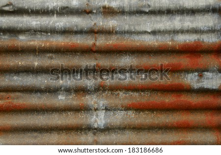 Rusty corrugated metal background - stock photo