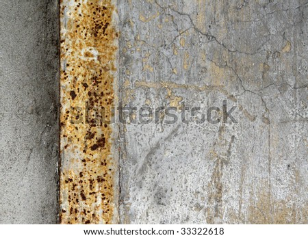 Rusty cracked wall background - stock photo