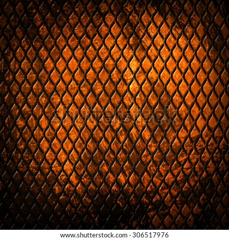 rusty gold metal background - stock photo