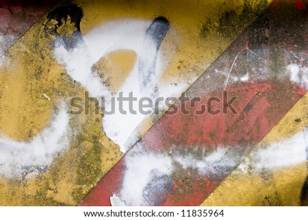 Rusty grungy sign for a construction Site - stock photo