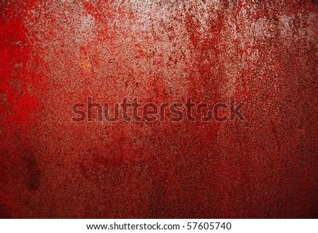 rusty iron plate - stock photo