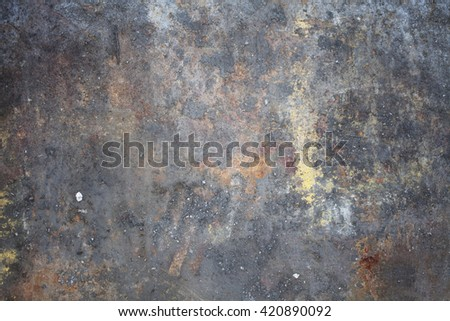 Rusty iron plate texture background - stock photo