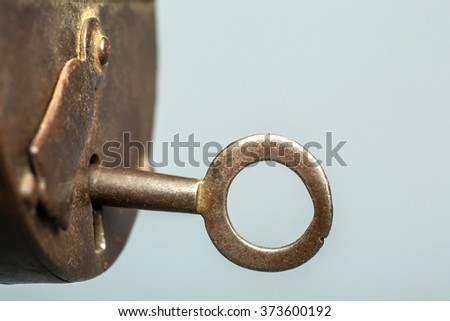 Rusty lock, old padlock