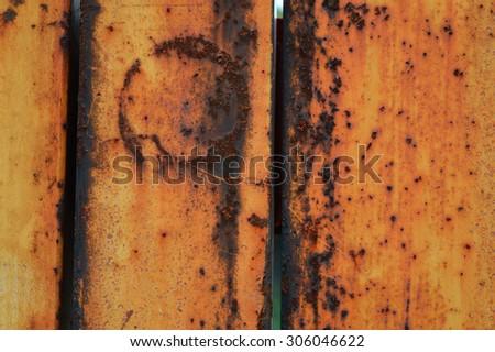 rusty metal detail, closeup of texture - stock photo