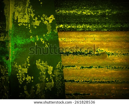 rusty metal fence background - stock photo