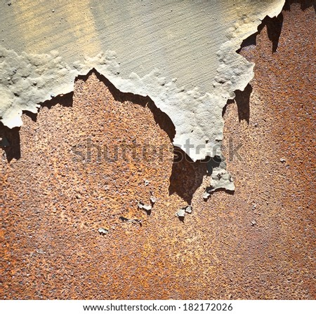 Rusty metal & Peeled Paint - stock photo