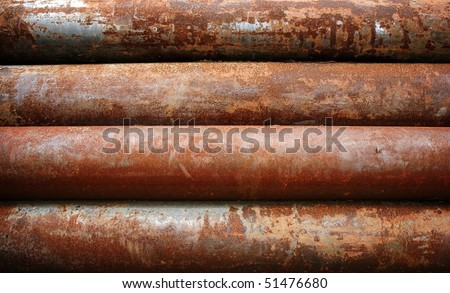 rusty metal pipe - stock photo