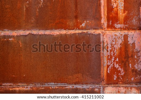rusty metal plates - stock photo