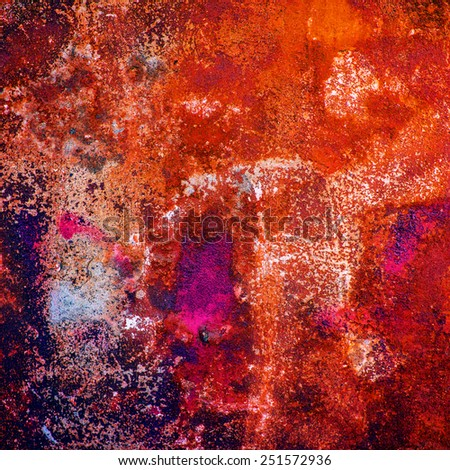 rusty metal surface corroded paint and dirt - stock photo