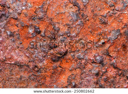 Rusty metal surfaces - stock photo