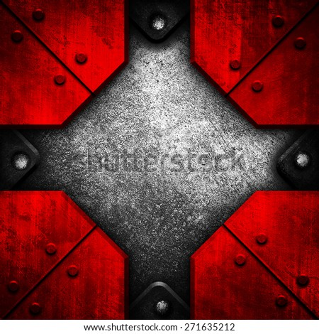 rusty metal template background - stock photo
