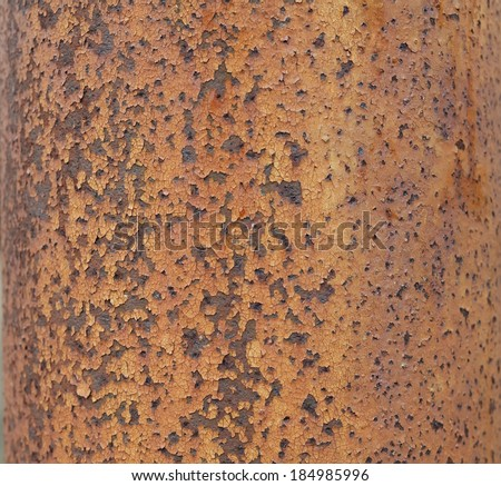 Rusty metal tube texture - stock photo