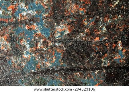 Rusty metal wall texture background. Rusty pattern. - stock photo