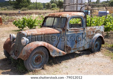 Rusty Old Abandoned Truck - stock photo