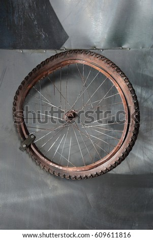 Bicycle Broken Old Wheel Stock Images, Royalty-Free Images ...