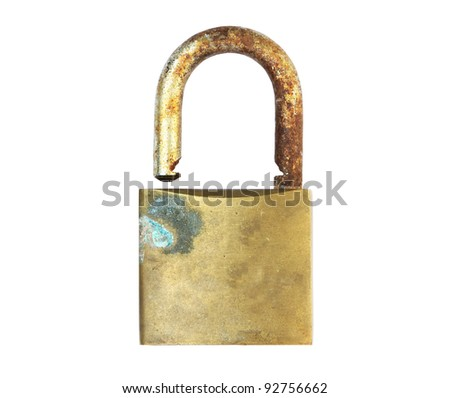 Rusty old log on white background, with clipping path - stock photo
