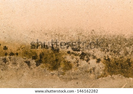 Rusty old rough cement wall for background - stock photo