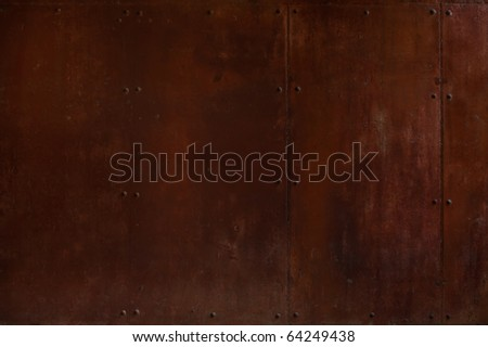 rusty plate - stock photo