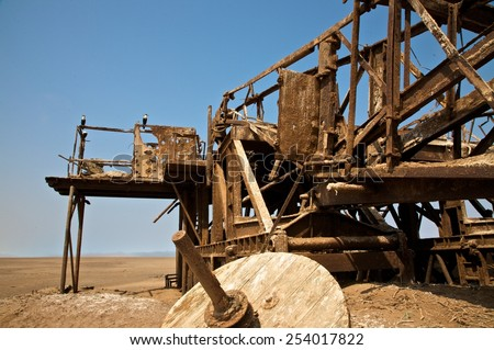 rusty ruins in the desert