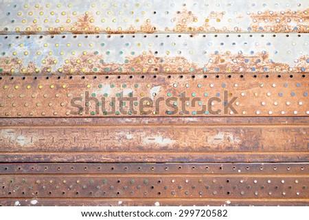 Rusty scaffolding - stock photo