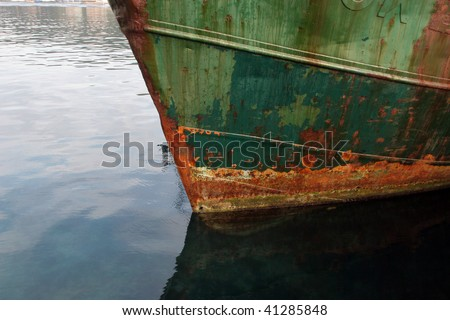 Rusty ship - stock photo