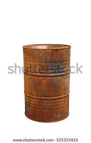 rusty steal barrel - stock photo