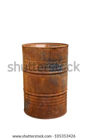 rusty steal barrel - stock photo