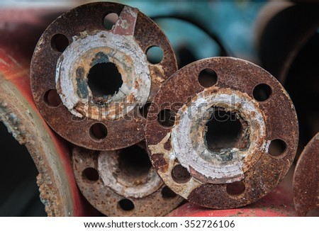 Rusty steel material