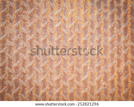 rusty steel plate floor