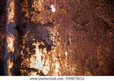 rusty steel sheet of metal - stock photo