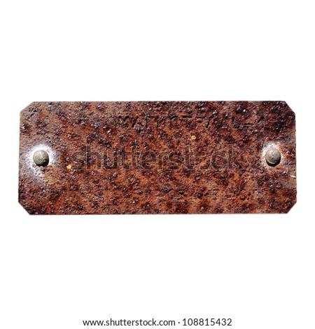 rusty tag - stock photo