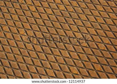 Rusty  texture of industrial metal plate.