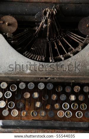 rusty typewriter. - stock photo