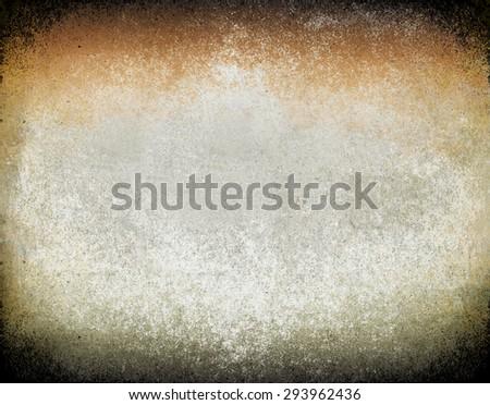 rusty wall orange green - stock photo