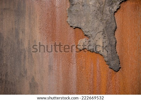Rusty wall structure - stock photo