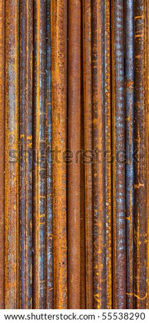 Rusty water pipes background