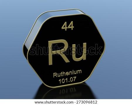 Ruthenium - stock photo