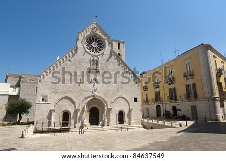 Ruvo (Bari, Puglia, Italy) - Old cathedral in Romanesque style (12th-13th century) - stock photo