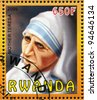 RWANDA - CIRCA 2009: stamp printed by Rwanda, shows Mother Teresa, circa 2009 - stock photo
