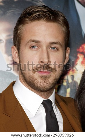 Ryan Gosling at the Los Angeles premiere of 'Gangster Squad' held at the Grauman's Chinese Theatre in Hollywood on January 7, 2013.  - stock photo