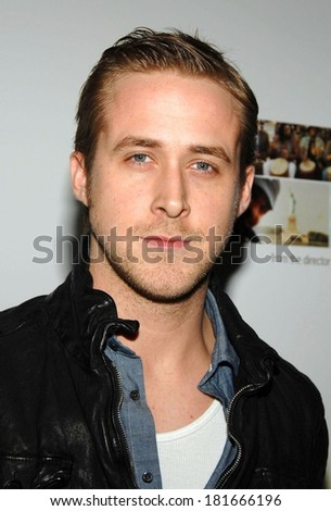 Ryan Gosling at THE VISITOR Premiere, MoMA - The Museum of Modern Art, New York, NY, April 01, 2008 - stock photo