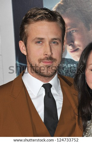 "Ryan Gosling at the world premiere of his movie ""Gangster Squad"" at Grauman's Chinese Theatre, Hollywood. January 7, 2013  Los Angeles, CA Picture: Paul Smith - stock photo"