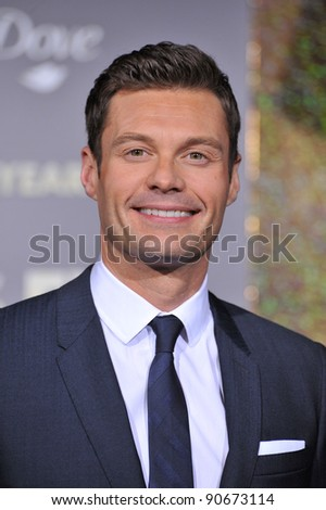 """Ryan Seacrest at the world premiere of his new movie """"New Year's Eve"""" at Grauman's Chinese Theatre, Hollywood. December 5, 2011  Los Angeles, CA Picture: Paul Smith / Featureflash - stock photo"""